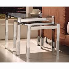buy nest of tables naxis black set of 2 nesting tables 10305 furniture in