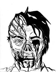 Scary Two Faces Coloring Page Coloring Sky Scary Coloring Paes