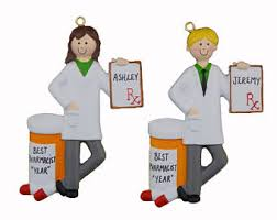 pharmacist ornament etsy