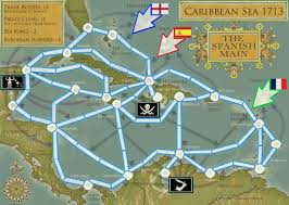 Map Caribbean by Caribbean Sea 1713 Map