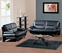 Leather Livingroom Furniture Impressive 30 Living Room Decorating Ideas Black Leather Sofa