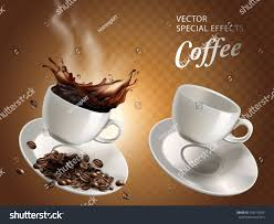 coffe cups two coffee cups one empty one stock vector 599170424 shutterstock