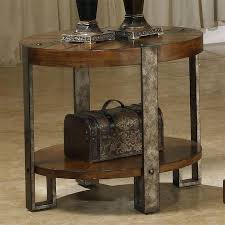 round wood and metal side table round wood and metal side table round metal side table khan studios