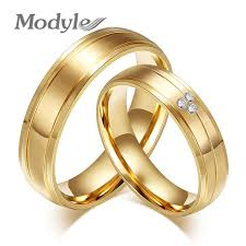engagement rings for couples modyle 2017 new fashion gold color rings cz stainless steel