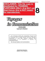 grade 8 english learner u0027s material pdf complete reading