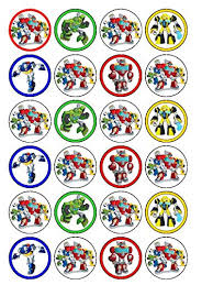 transformers rescue bots 1 edible cake or cupcake topper edible 24 x transformers rescue bots edible cupcake toppers co uk