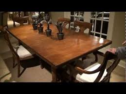 New Lou Rectangular Trestle Dining Table By Pennsylvania House - Pennsylvania house dining room set