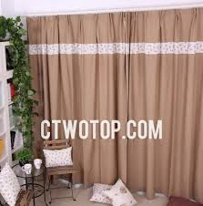 Brown Burlap Curtains Organic Plaid Brown Country Lined Burlap Curtains