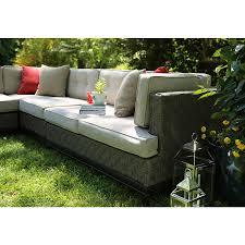 Lowes Patio Furniture Sets - shop ae outdoor 4 piece aluminum cushioned patio sectional