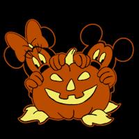 mickey minnie pumpkin stoneykins
