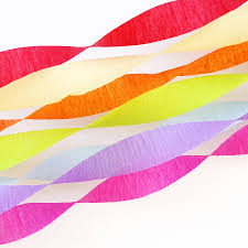 tissue streamers crepe paper streamers orange and yellow resource room