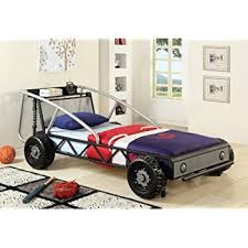 Car Bed Frames Furniture Of America Max Metal Car Bed Silver