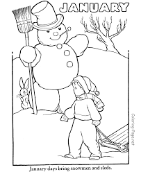 Winter Coloring Page January Coloring Page Coloring Pages Winter Coloring Pages Free Printable