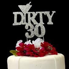 rhinestone cake toppers 30 birthday rhinestone cake topper 30 691054825161 ebay