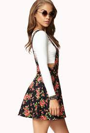 forever 21 sweet floral overall dress lyst