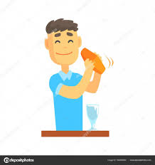 cartoon cocktail bartender shaking cocktail u2014 stock vector topvectors 164655480