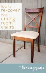 Recovering Dining Room Chairs How To Re Cover A Dining Room Chair Dining Chairs Kitchens And Room