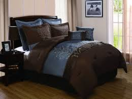 Blue And Brown Bed Sets Vcny Harmony 8 King Comforter Set Blue