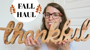 fall home decor haul michaels homesense and dollar tree haul