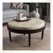 round leather ottoman coffee table with storage u2013 circular coffee