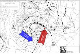 Weather Fronts Map Warm Front Reigate Grammar Weather Station