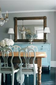 turquoise blue sideboard transitional dining room morgan
