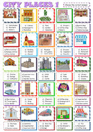 city places multiple choice activity1 esl worksheet of the day