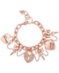 guess bracelet rose gold images Guess charm bracelet best bracelets jpg