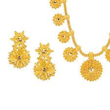 gold long necklace set images Long flora 22k gold necklace set raj jewels jpg