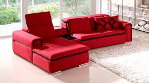 Fabric Sectional Sofa Red Indigo Fabric Sectional Sofa With Table And Storage Zuri