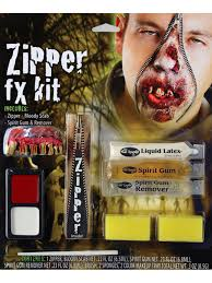 Halloween Liquid Latex Makeup by Halloween Zombie Zipper Teeth Zip Special Effect Fx Liquid Latex