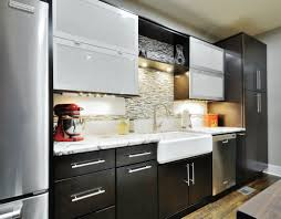 cool white color wooden merillat kitchen cabinets with white color