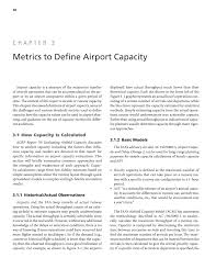 Spreadsheet Definition Chapter 3 Metrics To Define Airport Capacity Defining And