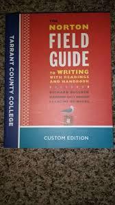 the norton field guide to tcc custom edition the norton field guide to writing for sale