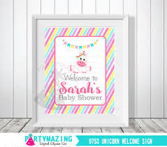 baby shower sign unicorn baby shower welcome sign personalized baby shower sign