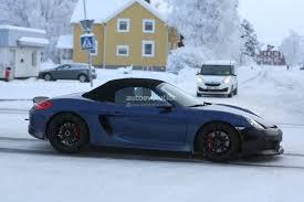 Porsche Boxster Old - spyshots 2016 porsche boxster rs spyder shows ducktail spoiler