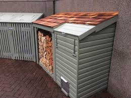 wood store combination set with bin store log store and coal bunker