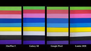 color test v i b g y o r color test capturing true colors galaxy s8 vs