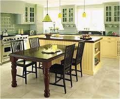 kitchen islands with tables attached kitchen island table white island with blue seats size of