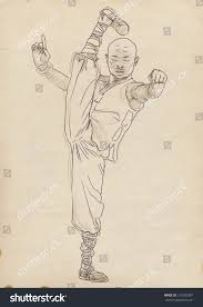 kung fu chinese martial art hand stock illustration 127055387