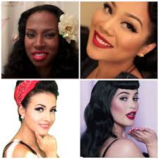 hair and makeup vintage pin up make up tutorials for all skin tones