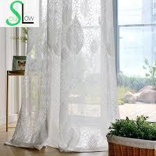 chambre et lent âme blanc jungle jacquard rideaux rideau pour salon tulle
