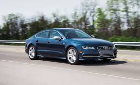 blue audi s7 2013 audi s7 term test review car and driver