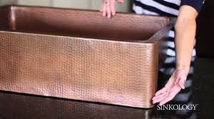 Hammered Copper Sink Reviews by Sinkology Adams Apron Front Copper Sink Overview Youtube