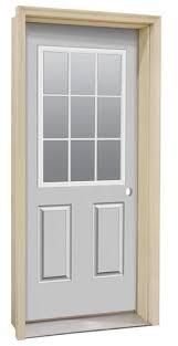Rough Opening For Exterior 36 Inch Door by Commander Primed Steel 9 Lite Prehung Entry Door At Menards