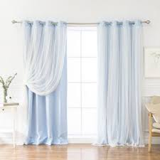 White And Blue Curtains Blue Curtains Drapes Joss