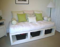 diy daybed with trundle daybed diy white platform daybed with open storage underneath