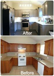 refinishing oak kitchen cabinets before and after refacing oak kitchen cabinets s s painting oak kitchen cabinets