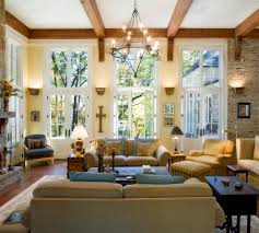 French Country Family Rooms Living Room Traditional With Wall - Country family rooms
