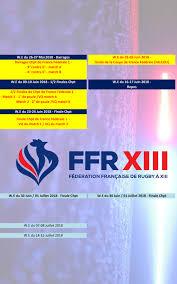 Calendrier Fdration Franaise De Copie De Calendrier Fédé 1 2 Fédération Française De Rugby à Xiii